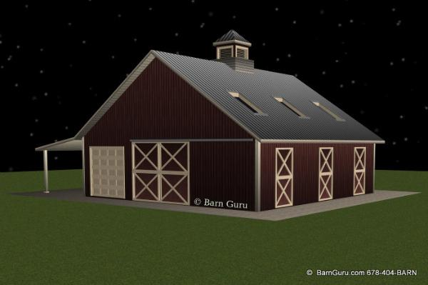 3 Stall Horse Barn With Loft- Ga Barn Builder