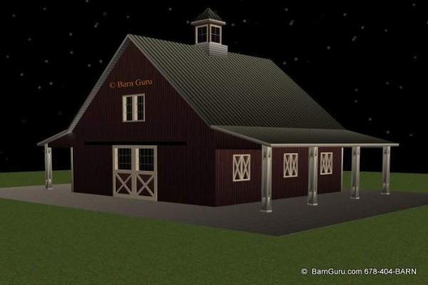 4 stall barn with living quarters joy studio design for Horse barn with apartment plans