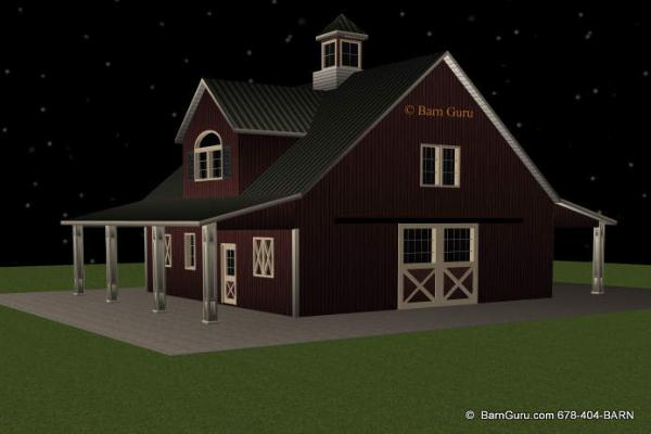 Shedaria here horse barn plans with living quarters for Barns with apartments above