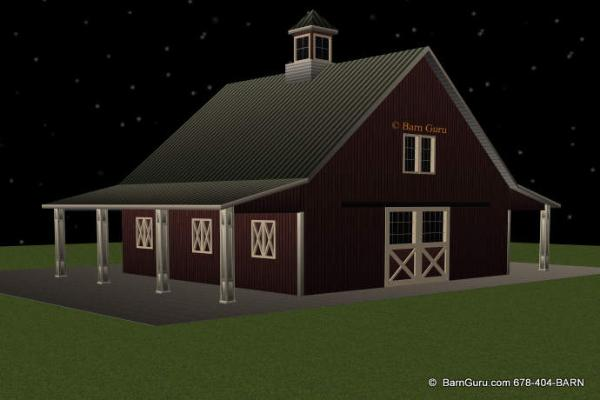 Pole barns with living quarters above joy studio design for Pole barn with apartment floor plans