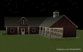 4 Stall Sder Row Horse Barn With Living Quarters