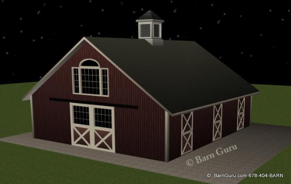 4 Stall Horse Barn With Gable Window