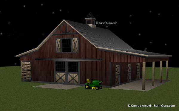 4 stall horse barn plans for 4 stall barn plans