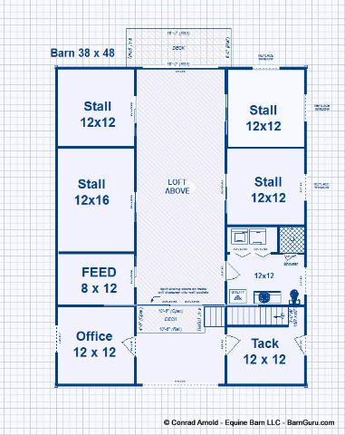 4 stall barn with living quarters joy studio design for Gambrel barn plans with living quarters