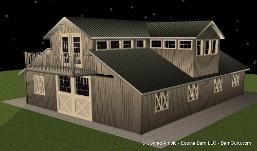 Barn plans monitor style barn raised aisle design for Monitor style barn plans