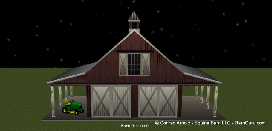 Two car garage that looks like a horse barn for Garages that look like barns