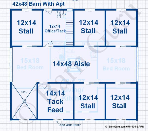 Barn Blueprints With Living Quarters Joy Studio Design