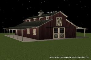 Barn Plans Monitor Style Barn Raised Aisle Design