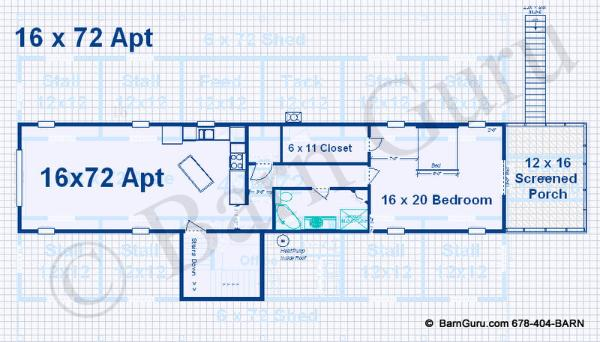 Selapa december 2014 for Barn floor plans with living quarters