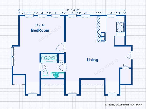 Garage apartment plans 2 bedroom on shedfor garage Garage with living quarters floor plans