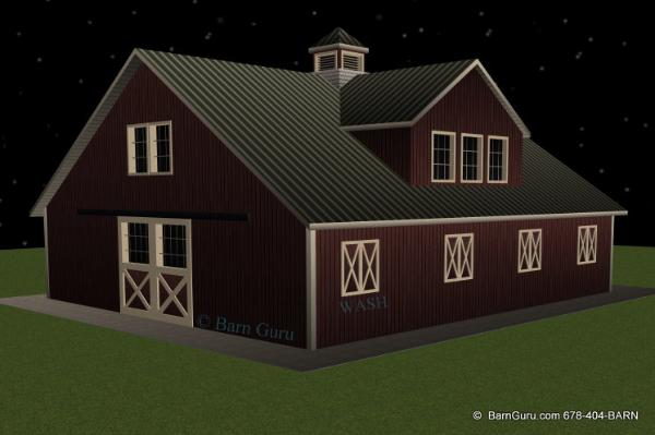 5 Stall Horse Barn With Apartment