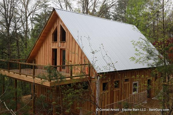 Barn Home With Living Quarters - Barn Guru.com - Conrad Arnold builder