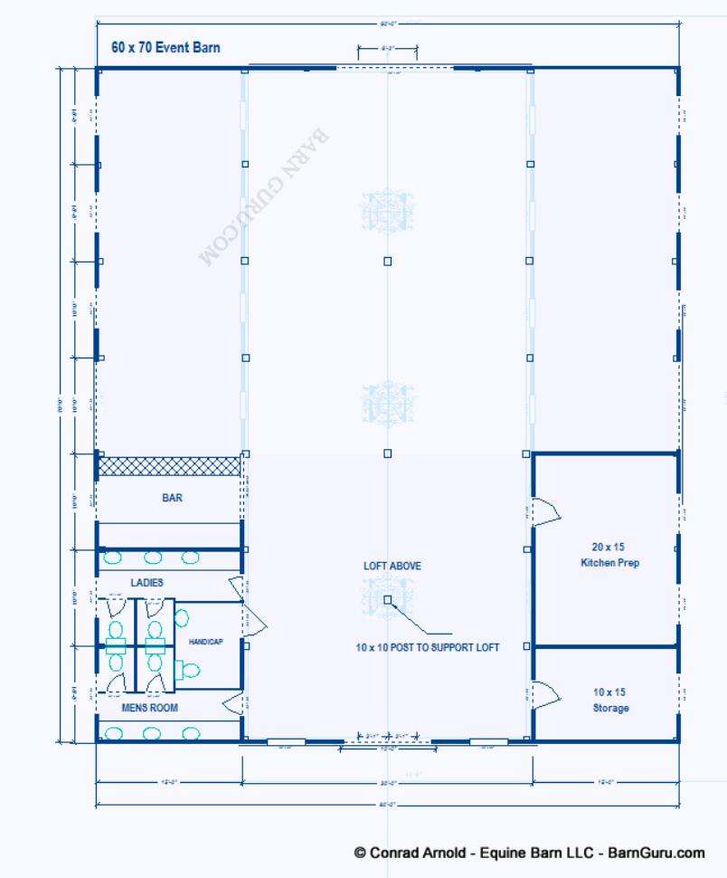 Party event barn plans design floor plan for Event floor plan layout
