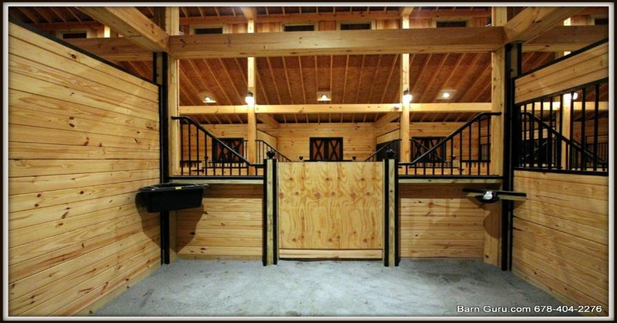 Barn plans 10 stall horse barn design floor plan for Horse stall door plans