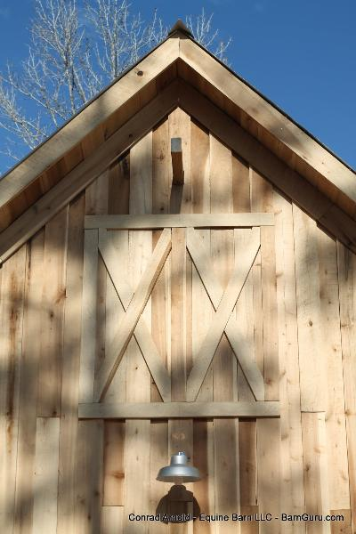 Storage Barn Made From Rough Cut Poplar