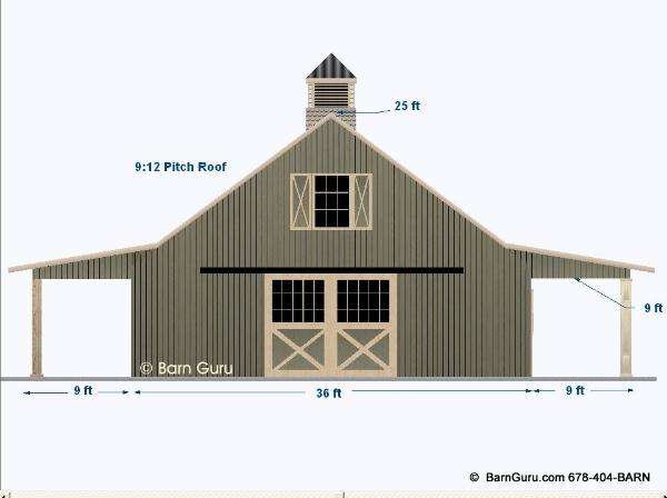 2 Stall Horse Barn Plan With Loft Barn Builder In North Ga