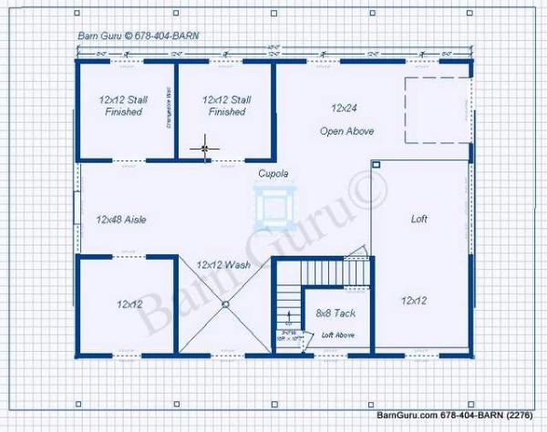 4 stall horse barn plan for 4 stall barn designs