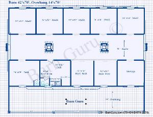 6 stall for Six stall horse barn plans