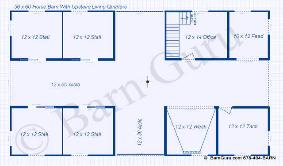 Choice 36x48 Horse Barn Plans The Jek
