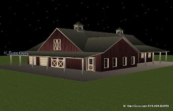 8 Stall Horse Barn With Living Quarters