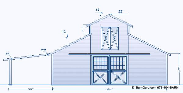 Barn Plans 8 Stall Horse