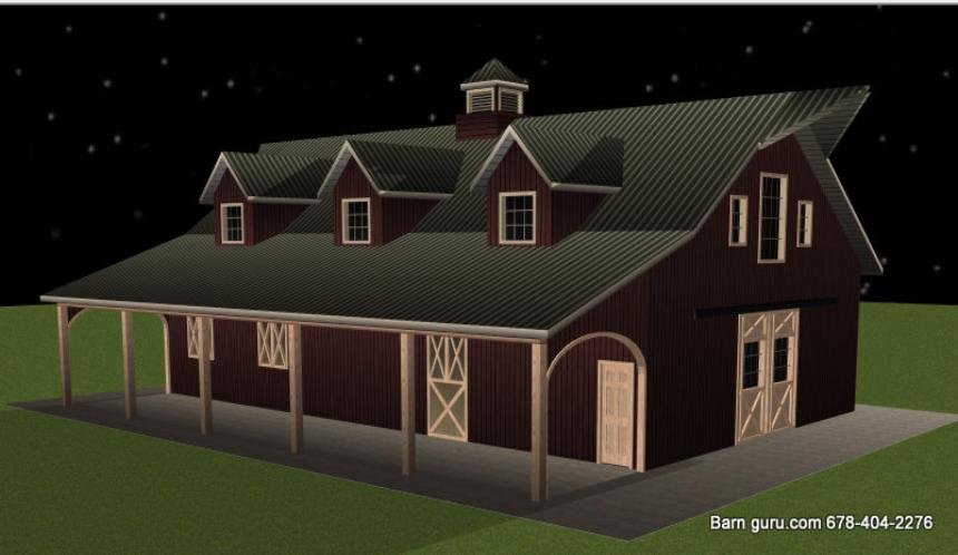 HORSE BARN WITH LIVING QUARTERS IN NORTH GA