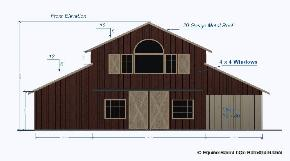 Monitor barn plans with living quarters joy studio for Monitor barn kit