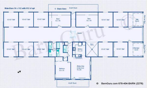 Griswouls complete goat shed blueprints for Horse barn blueprints