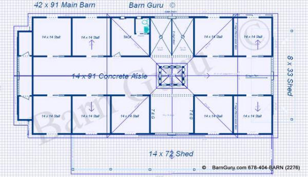 9 Stall Horse Barn Plans