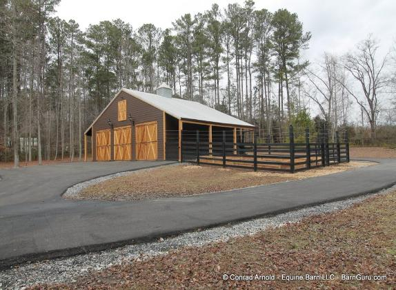 Garage Remodel With Deer Proof Fence For The Garden - Barn Guru.com Conrad Arnold