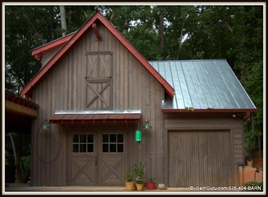 Barn plans barns and horse barn plans on pinterest for Garages that look like barns