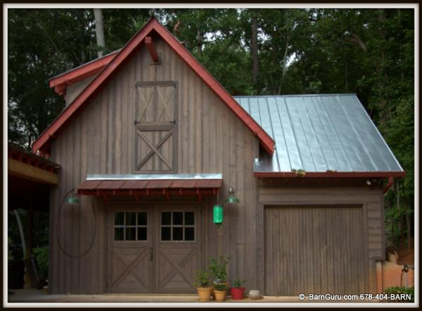 Accessory Building In Marietta, Ga - Built To Look Like A Horse Barn - Barn Guru.com