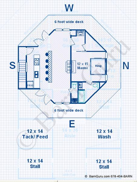 Kelana barn plans living quarters floor plans details for Barn living quarters floor plans