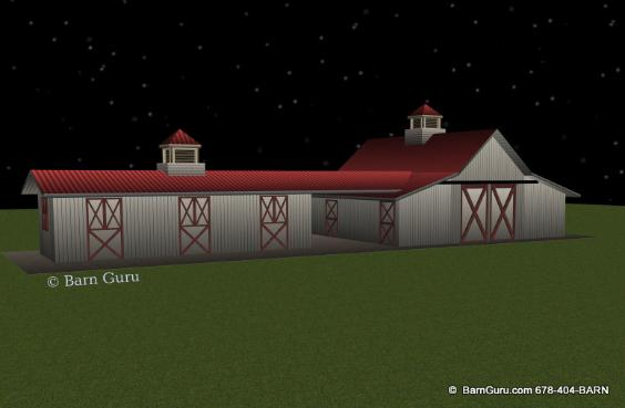 New Shed Row Horse Barn