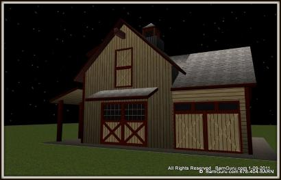 Horse Barn Storage Building - Small Tractor Shed - Ga Barn Builder