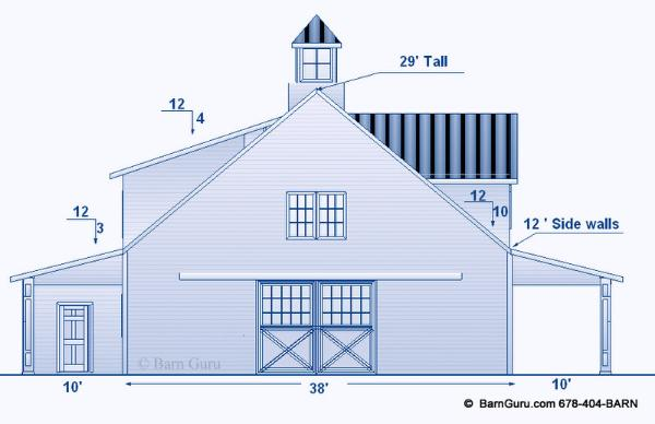 Barn Plans With Living Quarters 4 Stalls 3 Bedrooms