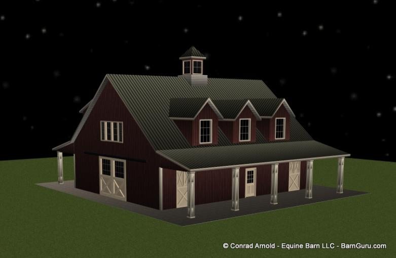 5_Stall_Horse_Barn_With_Living_Quarters