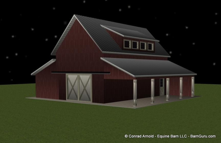 Small horse barn joy studio design gallery best design for Small monitor barn