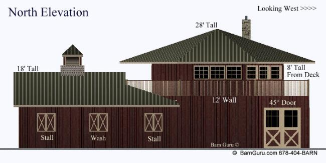 4 stall horse barn with apartment barn builder in georgia