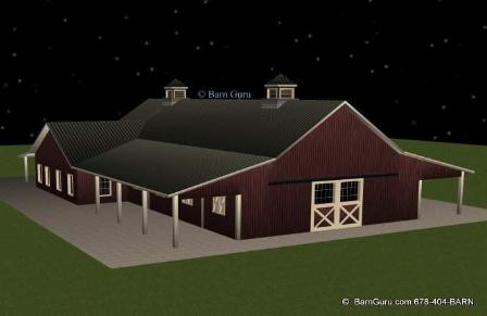Eight Stall Horse Barn With Living Quarters