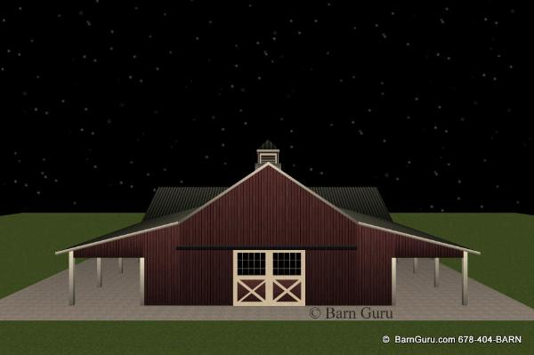 Barn plans 8 stall horse barn design floor plan for 8 stall barn plans