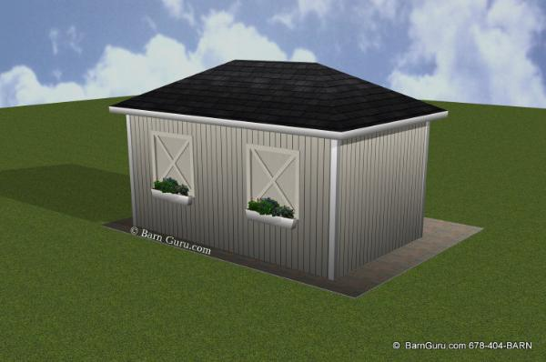 12 X 20 Run in Horse Barn Shed - Barn Guru.com - Ga Barn Builder