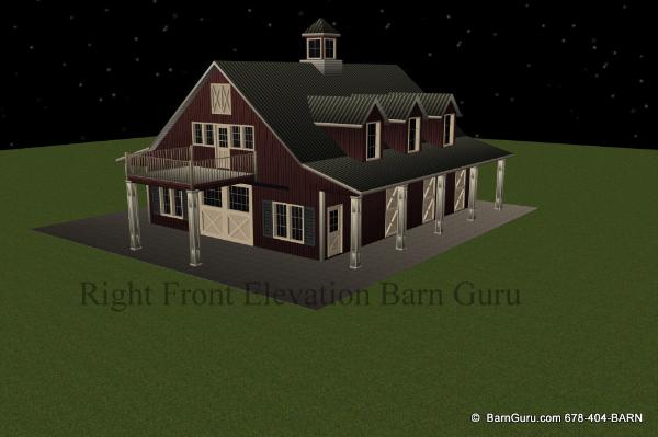 James barn plans with 2 bedrooms for Horse barn with apartment plans