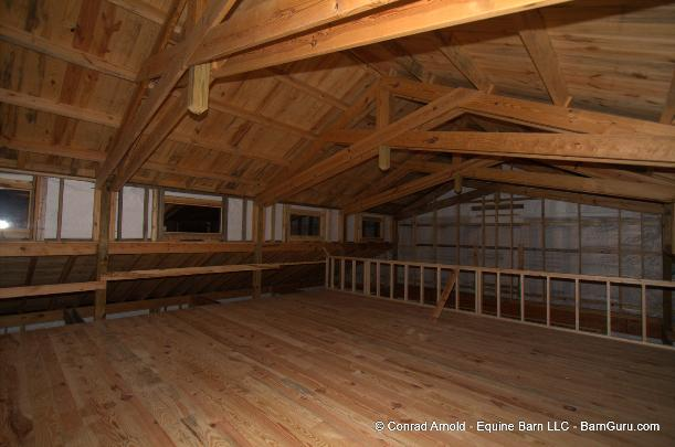 Barn ceiling options for T g roof decking