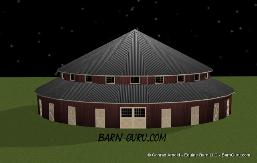 18_Stall_Round_Horse_Barn_Buy_Plans