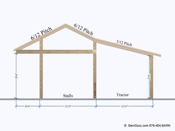 Shedme plans for a shed row barn for Lean to style house plans