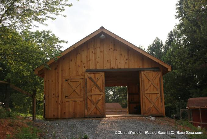 Low cost 2 stall horse barn option for Cost of building a horse barn