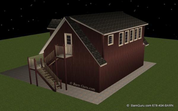 3 Car Garage With Living Quarters   Barn Guru.com   Post And Beam