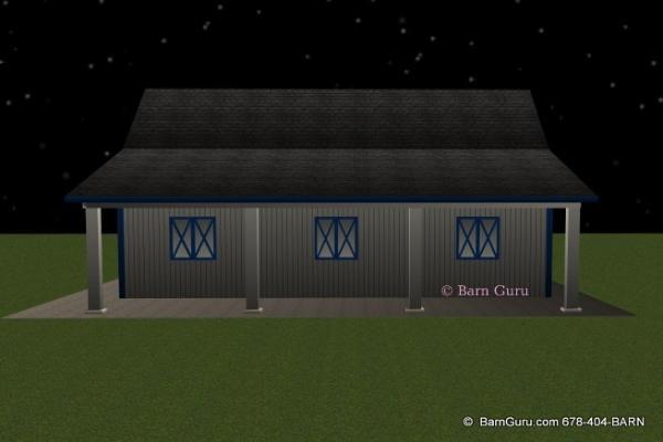 Barn Plans 5 Stall Horse Barn Design Floor Plan