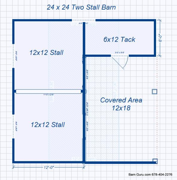 barn plans 2 stall horse barn design floor plan